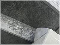 鉄筋腐食範囲調査結果例(自然電位マップ)